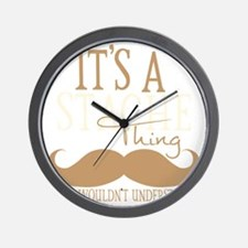 Its A Stache Thing Wall Clock