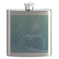 Namaste Snowflake Ornament Flask