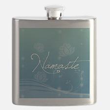 Namaste Snowflake Ornament Flask