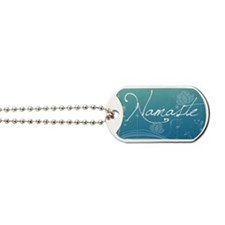 Namaste Picture Ornament Dog Tags