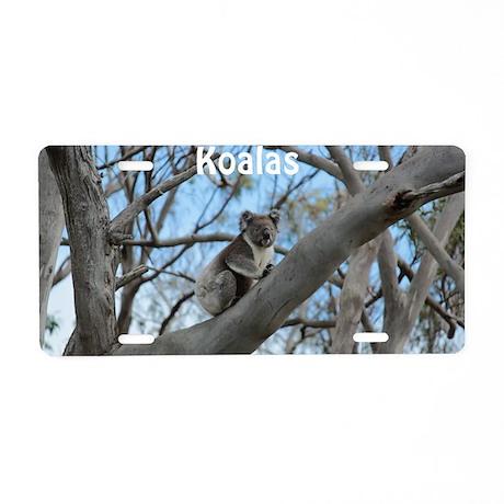 Koala Cover Aluminum License Plate
