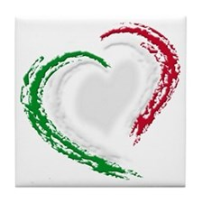 italian heart Tile Coaster