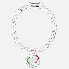 italian heart Charm Bracelet, One Charm