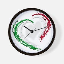 italian heart Wall Clock