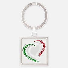 italian heart Square Keychain