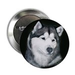 Gray Alaskan Malamute Button