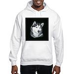 Gray Alaskan Malamute Hooded Sweatshirt