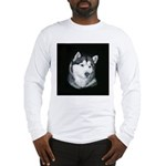 Gray Alaskan Malamute Long Sleeve T-Shirt