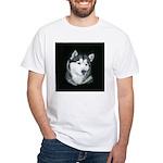 Gray Alaskan Malamute White T-Shirt