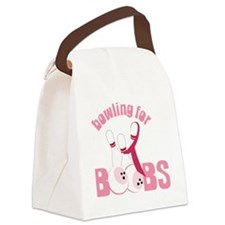 Bowling For Boobs Canvas Lunch Bag