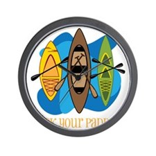 Pick Your Paddle Wall Clock
