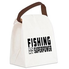 Fishing Is My Superpower Canvas Lunch Bag