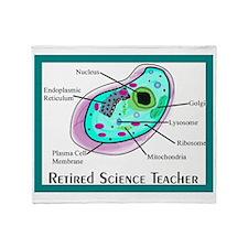 Retired science teacher pillow Throw Blanket