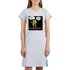 PNCB_logo_hooked_arms_black_bac Women's Nightshirt