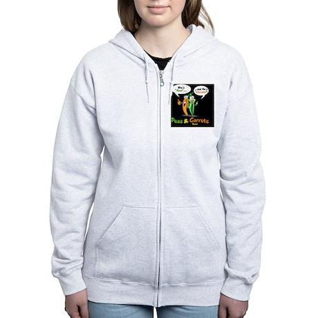 PNCB_logo_hooked_arms_black_bac Women's Zip Hoodie