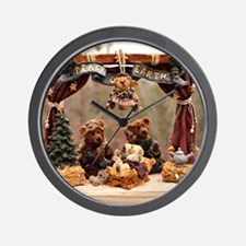 Boyd Bear Christmas Manger Wall Clock