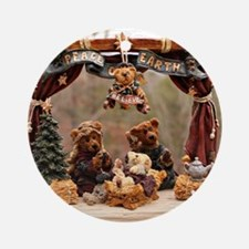 Boyd Bear Christmas Manger Round Ornament