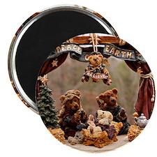 Boyd Bear Christmas Manger Magnet