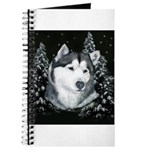 Alaskan Malamute with Snow Journal