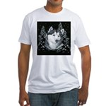 Alaskan Malamute with Snow Fitted T-Shirt