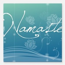 "Namaste Travel Valet Square Car Magnet 3"" x 3"""