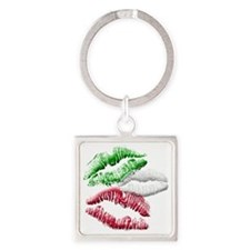 Italian Girls Square Keychain