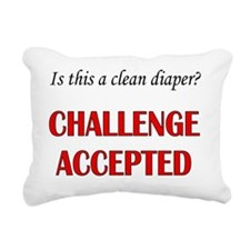 Is this a clean diaper?  Rectangular Canvas Pillow