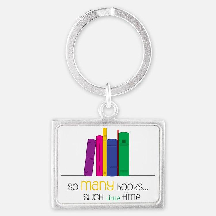 So Many Books Landscape Keychain