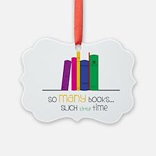 So Many Books Ornament