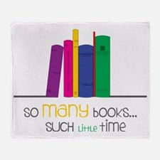 So Many Books Throw Blanket