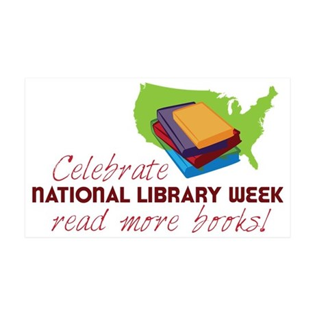 Library Week 35x21 Wall Decal
