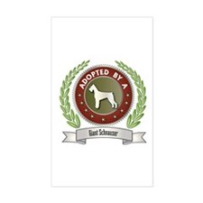 Schnauzer Adopted Rectangle Decal