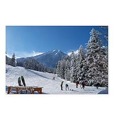 Ski Resort Scene Postcards (Package of 8)