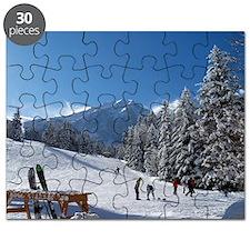 Ski Resort Scene Puzzle