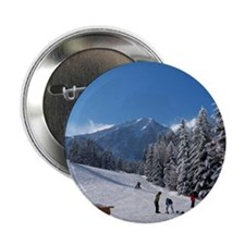 "Ski Resort Scene 2.25"" Button"