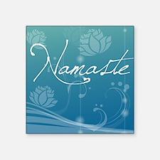 """Namaste Pillow Square Sticker 3"""" x 3"""""""