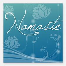 "Namaste Pillow Square Car Magnet 3"" x 3"""