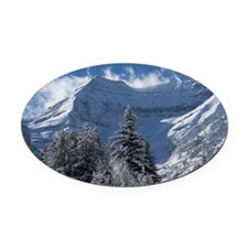 Beautiful Mountain Scene Oval Car Magnet