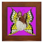 Colorful Papillion Framed Tile