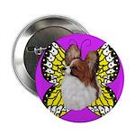 Colorful Papillion Button