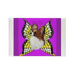Colorful Papillion Rectangle Magnet
