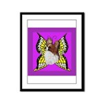 Colorful Papillion Framed Panel Print