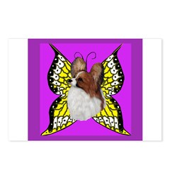 Colorful Papillion Postcards (Package of 8)