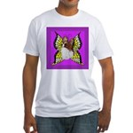 Colorful Papillion Fitted T-Shirt
