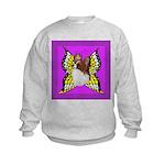Colorful Papillion Kids Sweatshirt