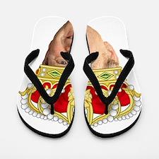 King George III Flip Flops
