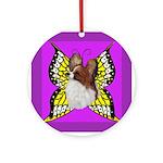 Colorful Papillion Ornament (Round)