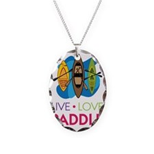 Live Love Paddle Necklace