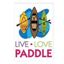 Live Love Paddle Postcards (Package of 8)