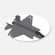 F-35 Lightning II Oval Car Magnet